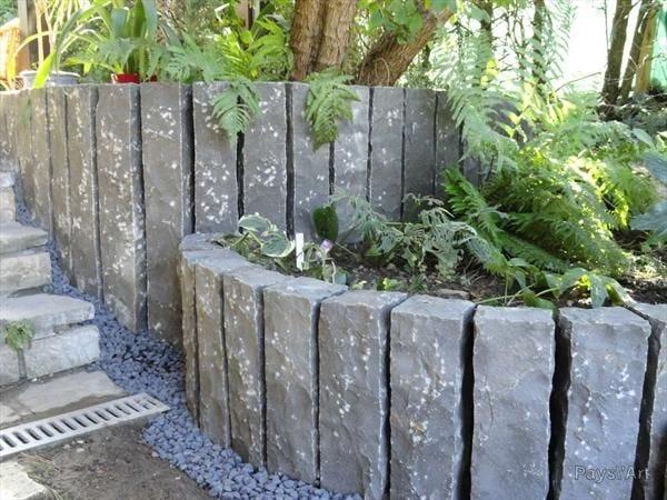 Bordure A Planter Basalte Pierre Naturelle Noir H 50 X L 10 Cm Leroy Merlin