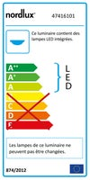 Réglette Latona, LED 1 x 5 W, LED intégrée changement blanc chaud à blanc froid