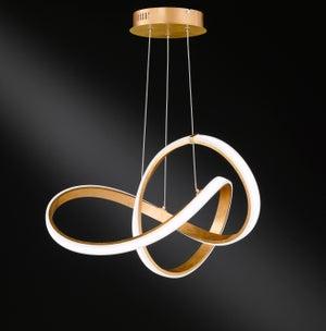 Image : Suspension, led intégrée design 6134.01.15.7000 métal or 1 x 42 W WOFI