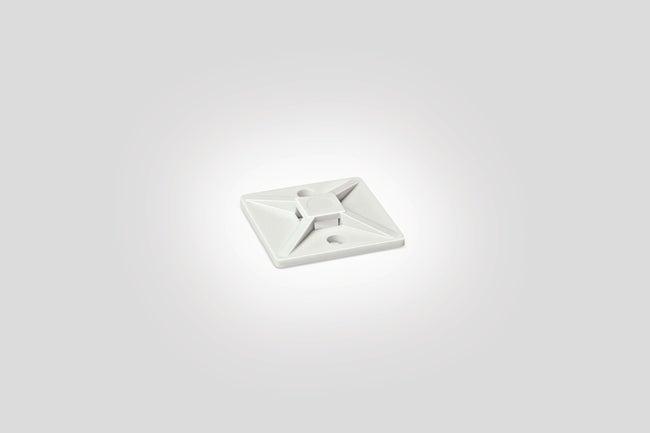 Lot De 10 Embases Adhésive Pour Collier L28 Mm Blanc Hellermanntyton