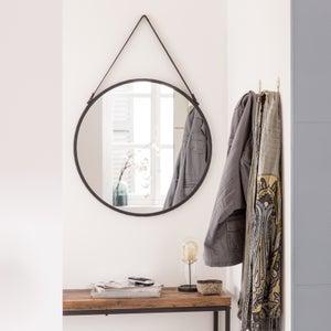 Image : Miroir rond Barbier, noir diam.41 cm