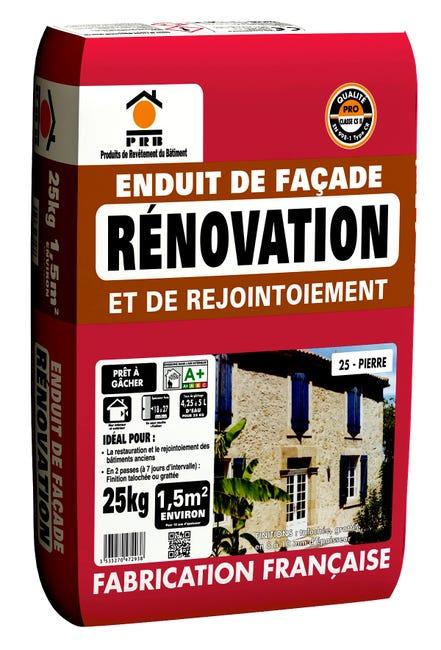 Enduit De Renovation Ton Pierre Prb 25 Kg Leroy Merlin