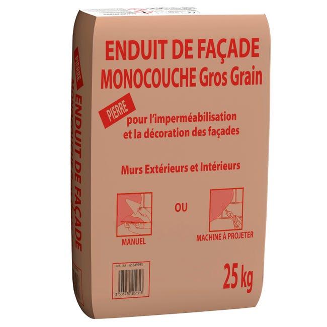 Enduit Monocouche Ton Pierre Prb 25 Kg Leroy Merlin