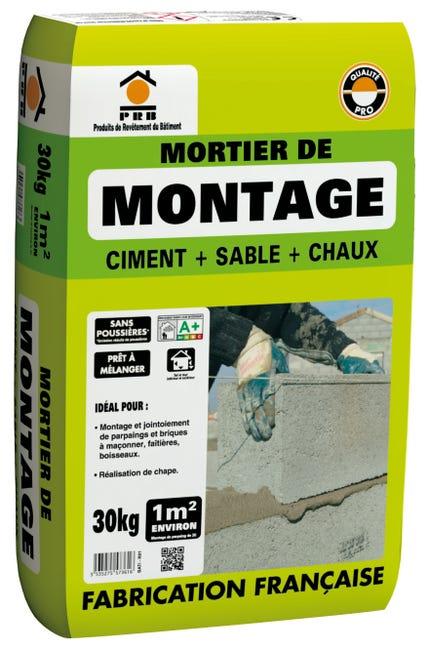 Mortier De Montage Lmb Gris Prb 30 Kg Leroy Merlin