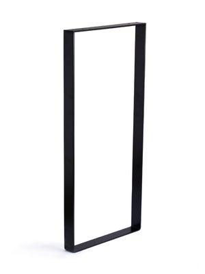 Image : Pied de meuble rectangle fixe à visser acier mat noir, 85 cm