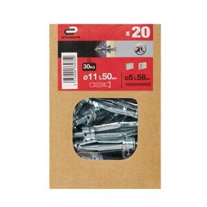 Image : 20 chevilles à expansion STANDERS, Diam.11 x L.50 mm