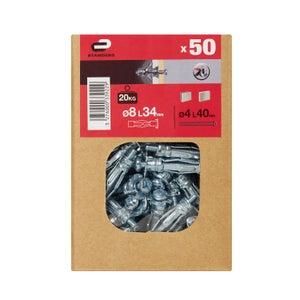 Image : Lot de 50 chevilles à expansion STANDERS, Diam.8 x L.34 mm