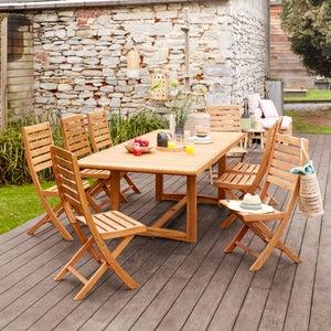 Image : Table de jardin de repas NATERIAL Viena rectangulaire marron 6 personnes