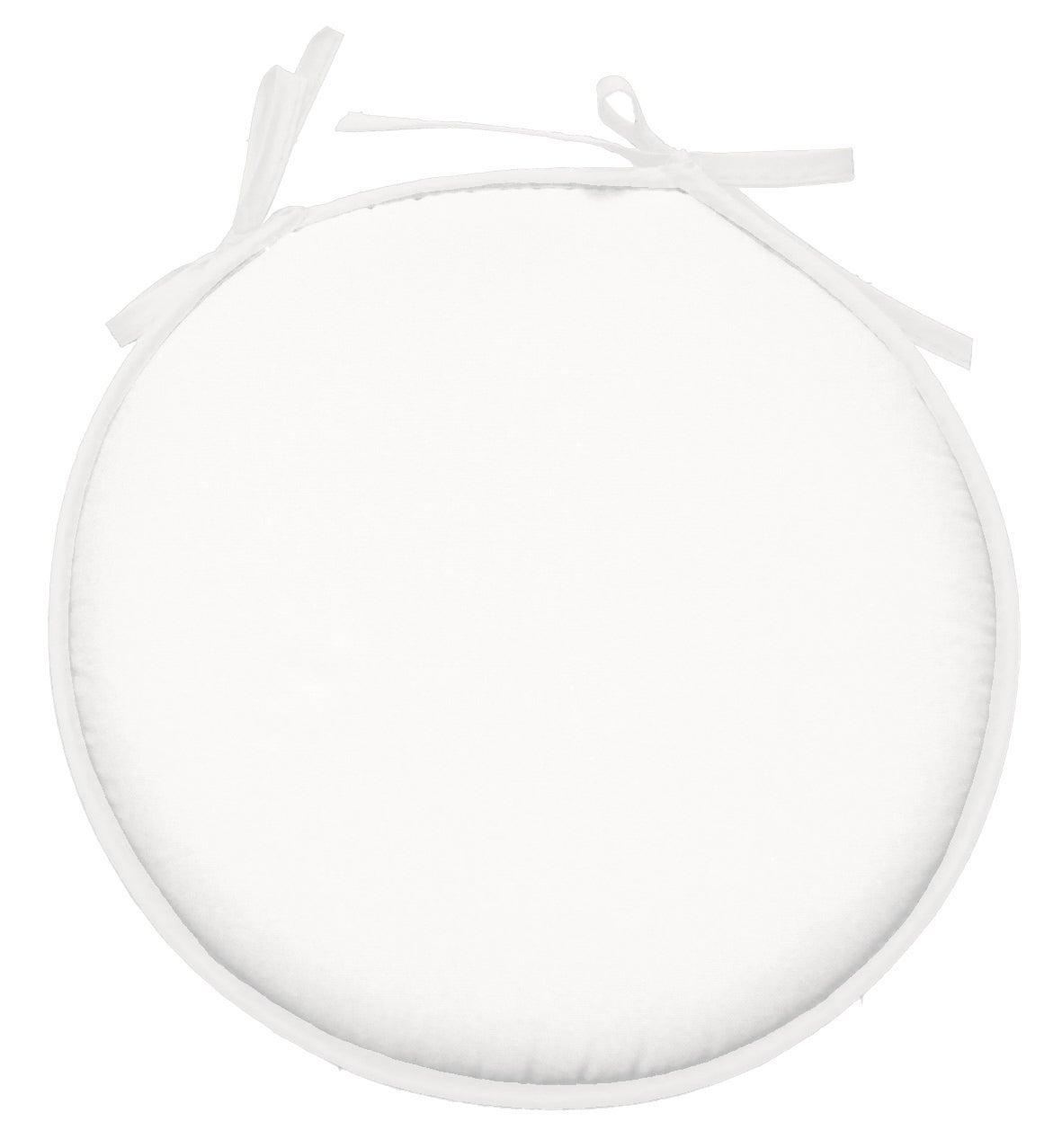 Galette de chaise Nelson forme ronde, blanc l.7 x H.7 cm  Leroy