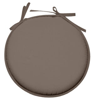 Galette de chaise Nelson forme ronde, taupe l.40 x H.40 cm