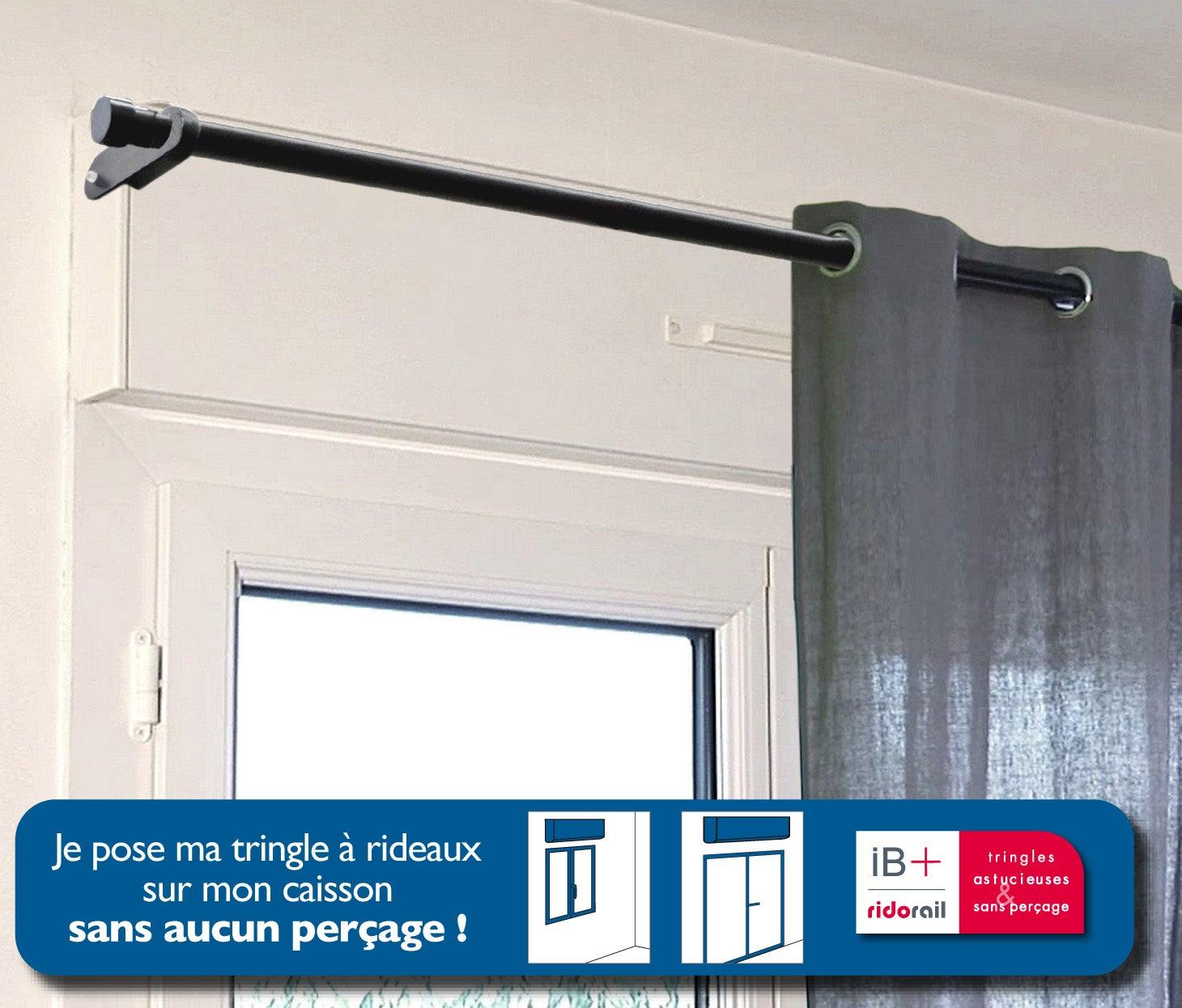 Lot De 2 Supports Sans Percage Pour Caisson Volet Roulant D25 Mm Noir Mat Ib Leroy Merlin