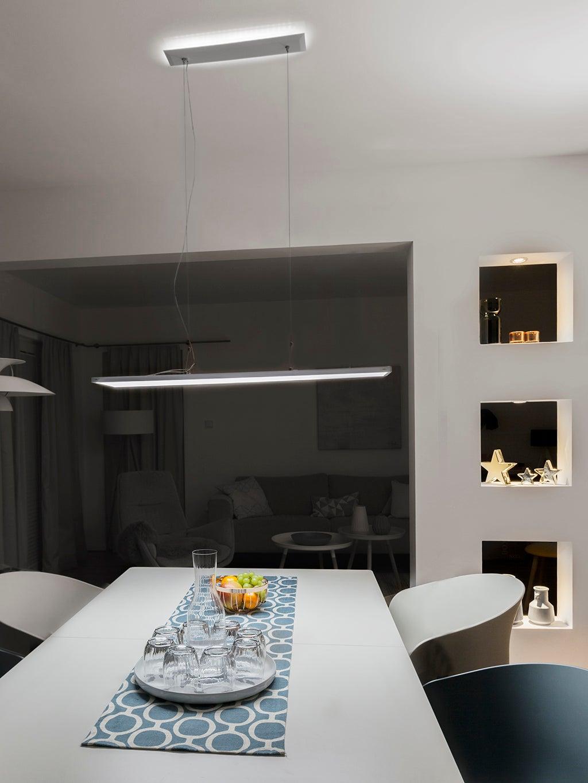 panneau led 120 x 20 cm 28 w éclairage indirect blanc