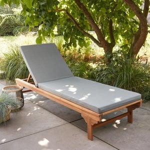 Image : Coussin d'assise de chaise ou de fauteuil Perla, taupe l.60 x H.6 cm