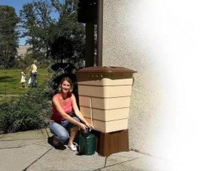 Image : Récupérateur d'eau aérien GARANTIA rectangulaire sable , 300 l