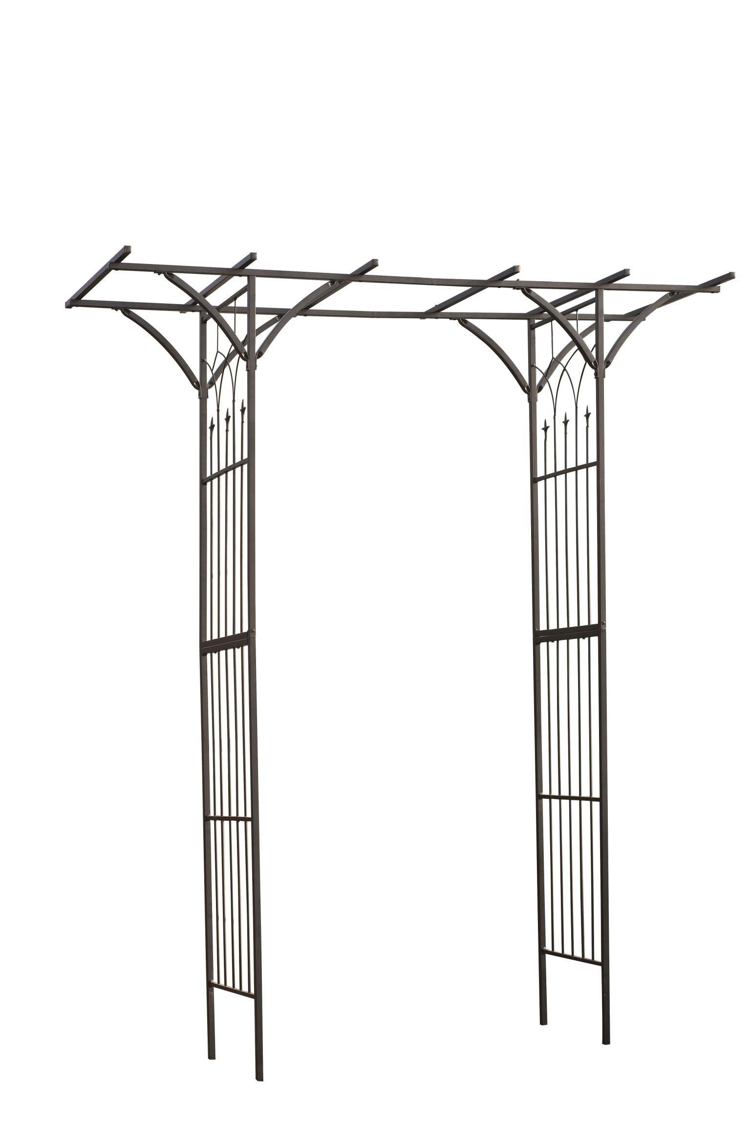 Pergola Arche Double Droite Nature En Acier Galvanise Laque Noir H 232x114x66cm Leroy Merlin