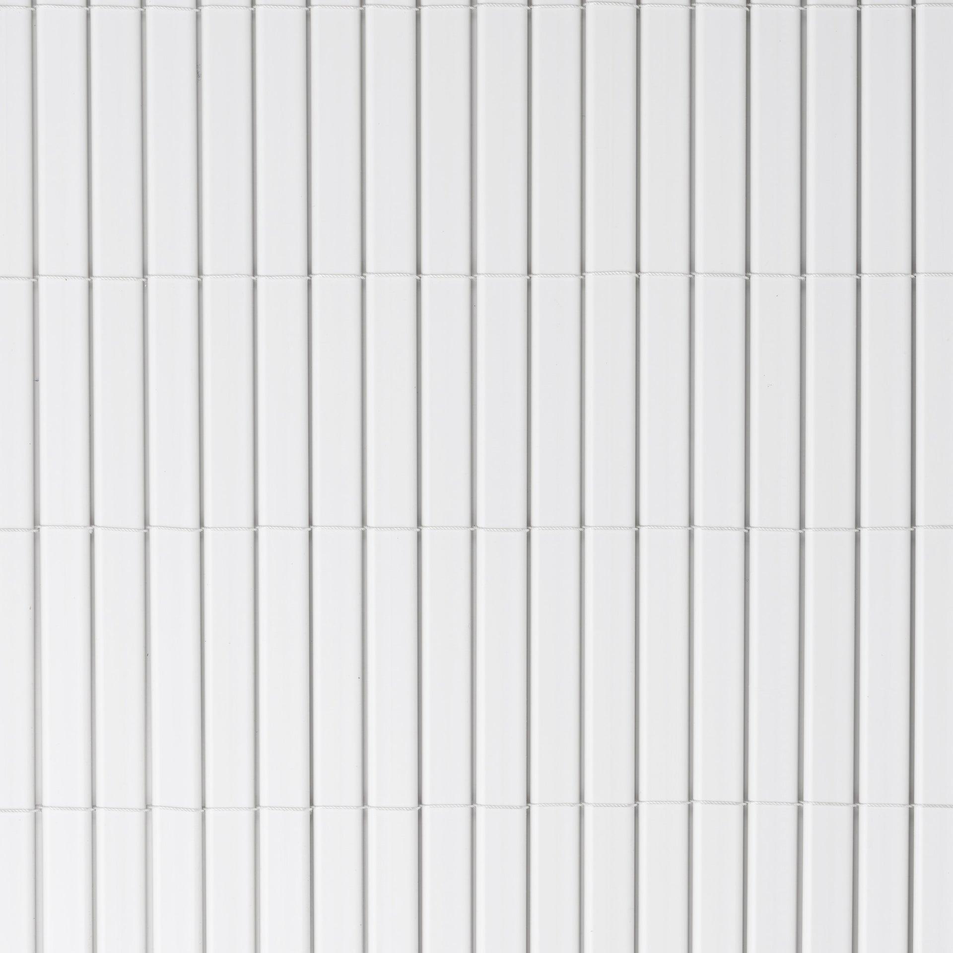 Canisse Double Face Sans Attache Pvc Naterial Blanc H 150 Cm X L 500 Cm Leroy Merlin