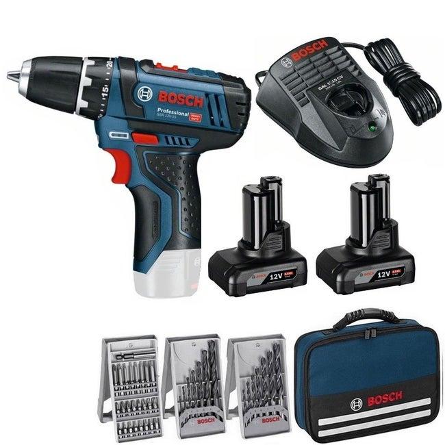 Perceuse Sans Fil Bosch Professional 12 V 4 Ah 2 Batteries Gsr12v 1539 Access