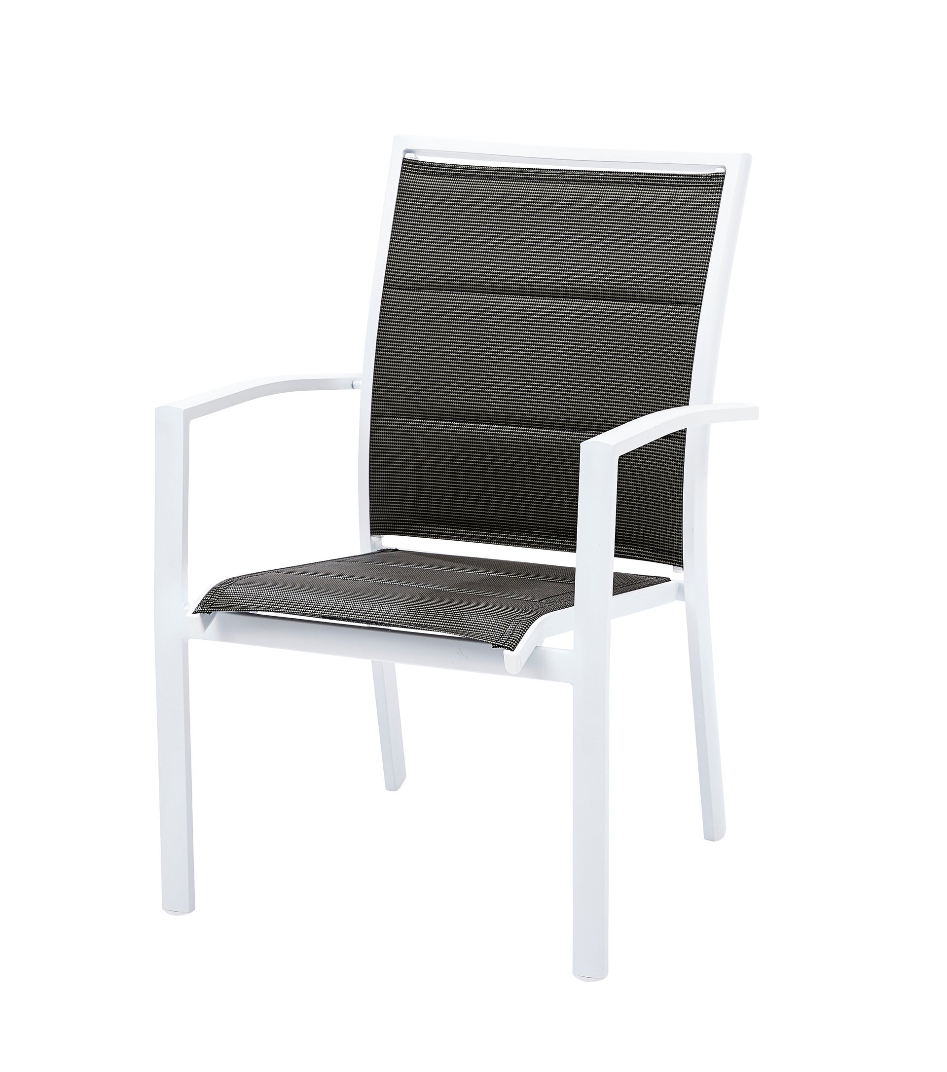 Salon de jardin Wilsa modulo t4/8 aluminium blanc, 4 personnes