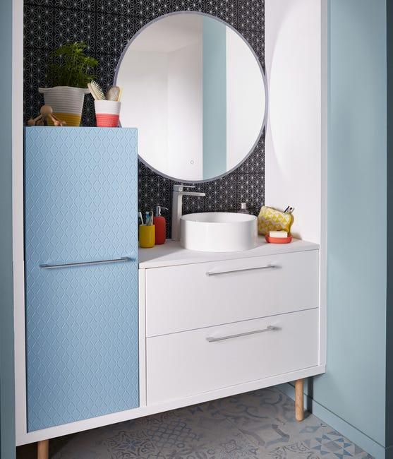Miroir Lumineux Avec Eclairage Integre L 90 X H 90 Cm Renzo Leroy Merlin