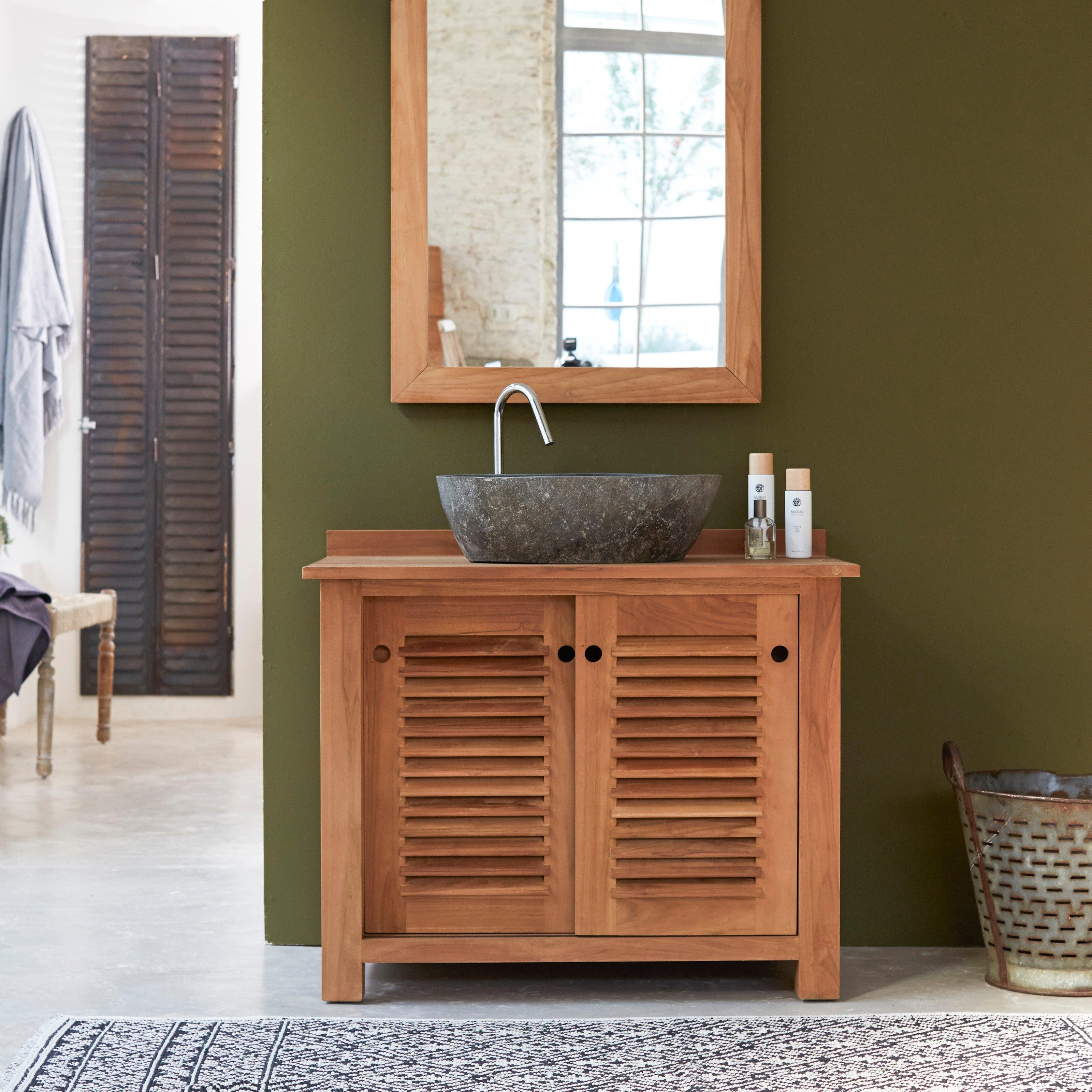 meuble vasque bois l 95 x h 80 x p 60 cm tikamoon coline