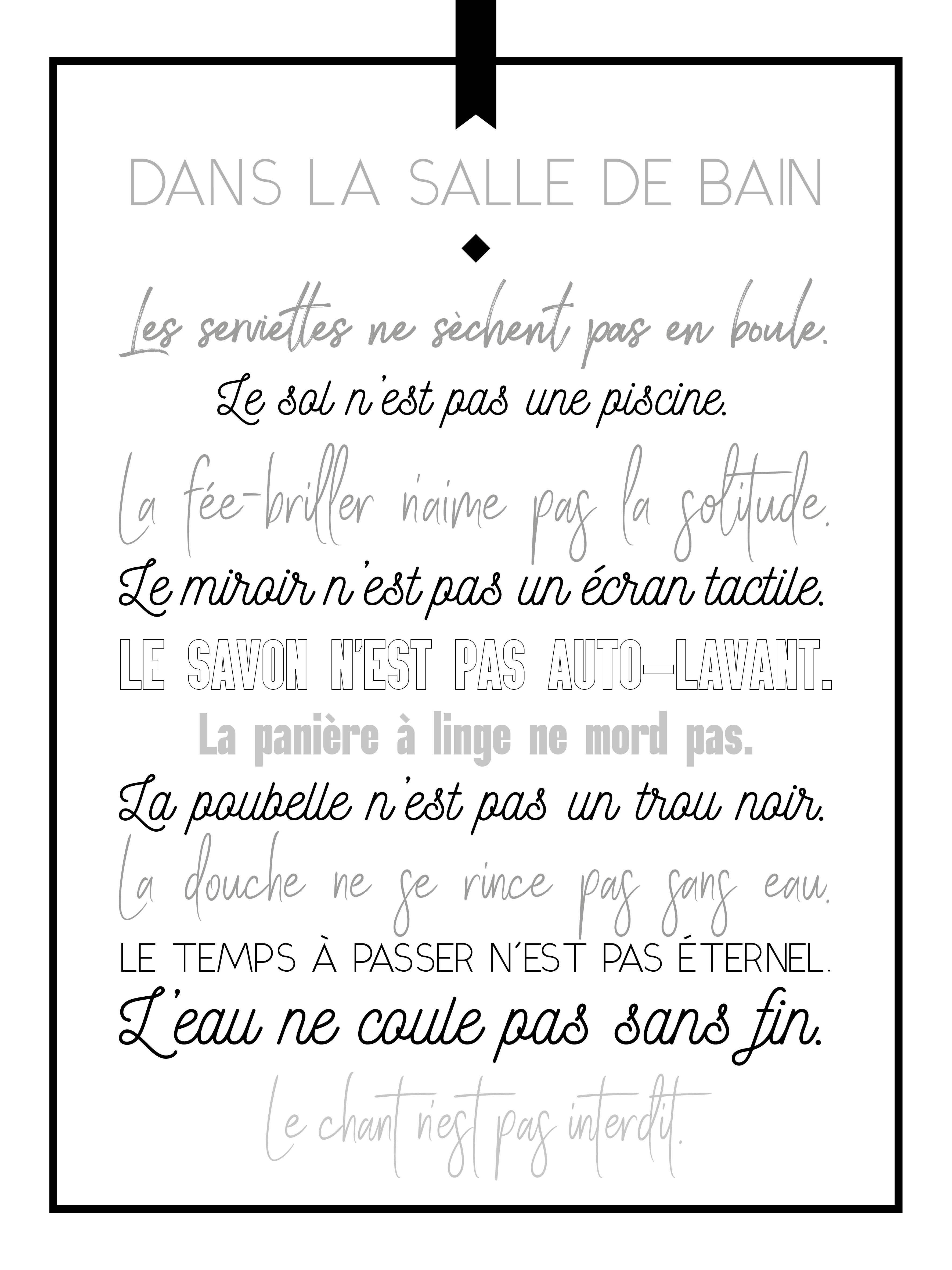 Affiche Règles Dans La Salle De Bain L 50 X H 70 Cm Leroy Merlin
