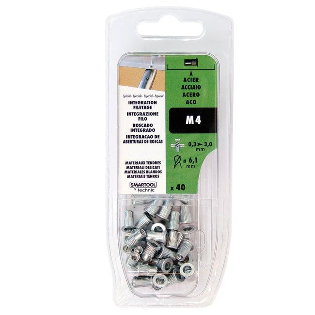 Lot De 40 écrous Aveugles Smartool Technic Aluminium