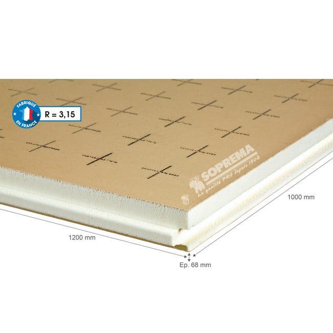 Panneau Pour Isolation Polyurethane Papier Kraft L 1xl 1 2xep 68mm Rr3 A R5 Leroy Merlin