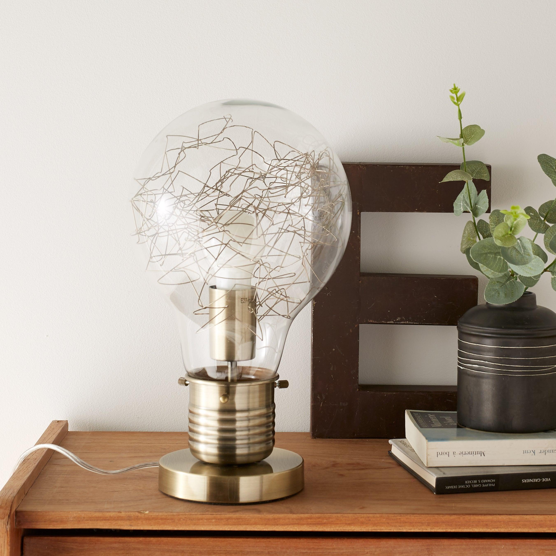 Lampe De Chevet Metal Et Bois Design Industriel Leroy Merlin