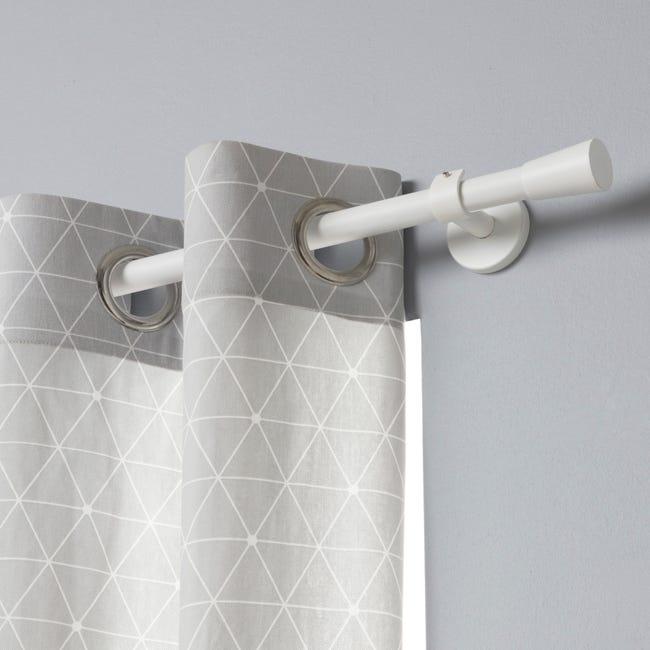 Tringle A Rideau Design Blanc Mat Diam 20 Mm 300 Cm Inspire Leroy Merlin