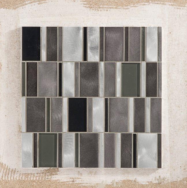 Mosaique Mur Cubic Noir Et Alu Naturel Leroy Merlin