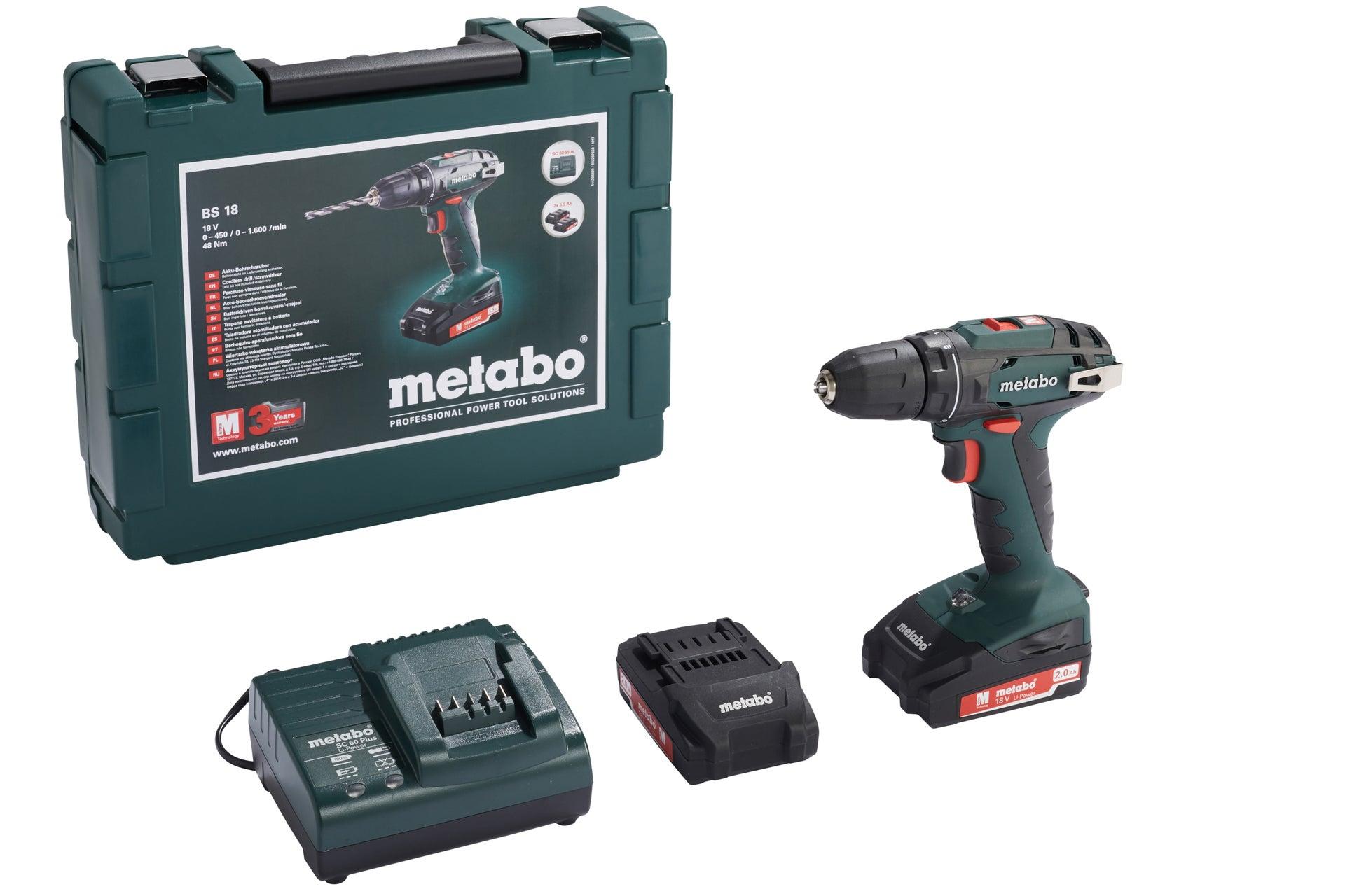 Perceuse Visseuse Sans Fil Metabo 18 V 15 Ah 2 Batteries