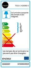 Panneau LED intégrée CIEL GDANSK INSPIRE carré 60 x 60 cm, blanc chaud / froid