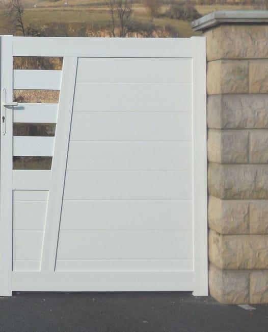 portillon battant baumier l 100 x h 130 cm blanc