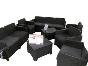 Image : Coussin d'assise de chaise ou de fauteuil Feria, gris anthracite l.57 x H.5 cm