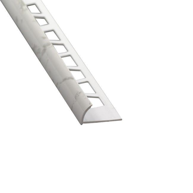 Quart De Rond Mur Marbre Blanc Brillant Pvc Revetu L 250 Cm X Ep 12 Mm Leroy Merlin