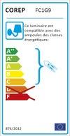 Applique métal laiton brossé COREP Manor 1 lumière(s)