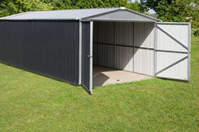 Garage Metal Yardmaster Pour 1 Voiture Surface Utile 20 31 M Leroy Merlin