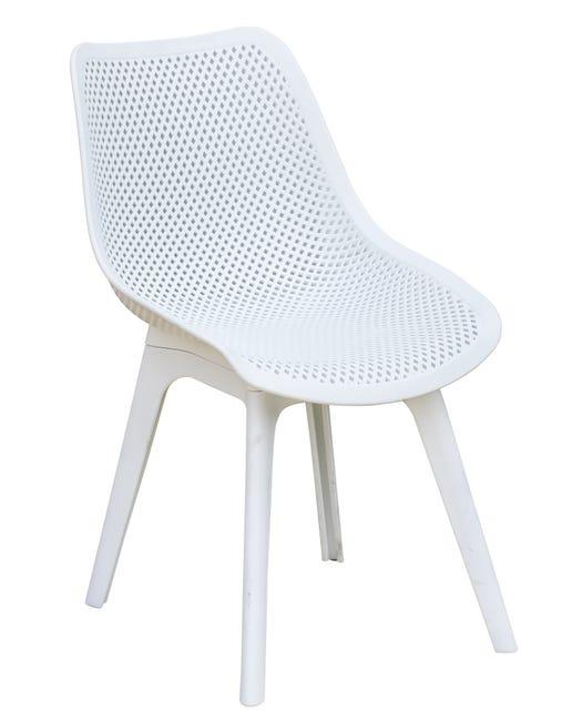 Chaise De Jardin En Plastique Scandi Blanc Leroy Merlin