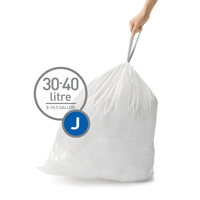 Sacs Poubelle 45 L Simple Human Plastique Blanc Leroy Merlin