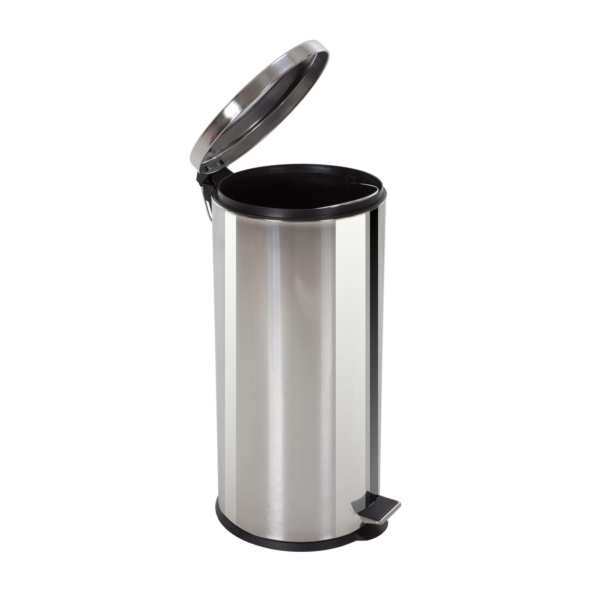 poubelle de cuisine 30 l à pédale selekta acier inox