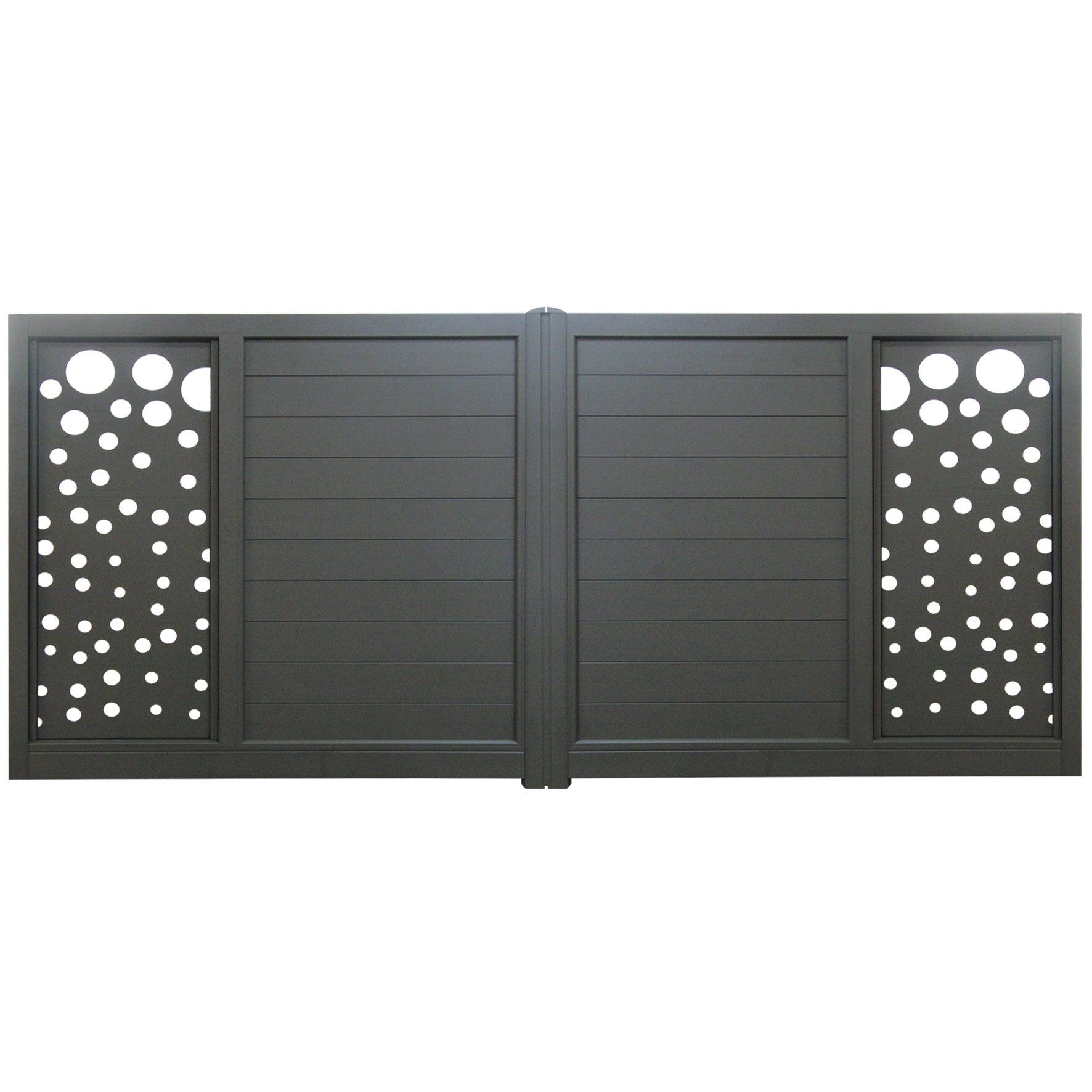 portail battant aluminium orval gris anthracite l360 cm