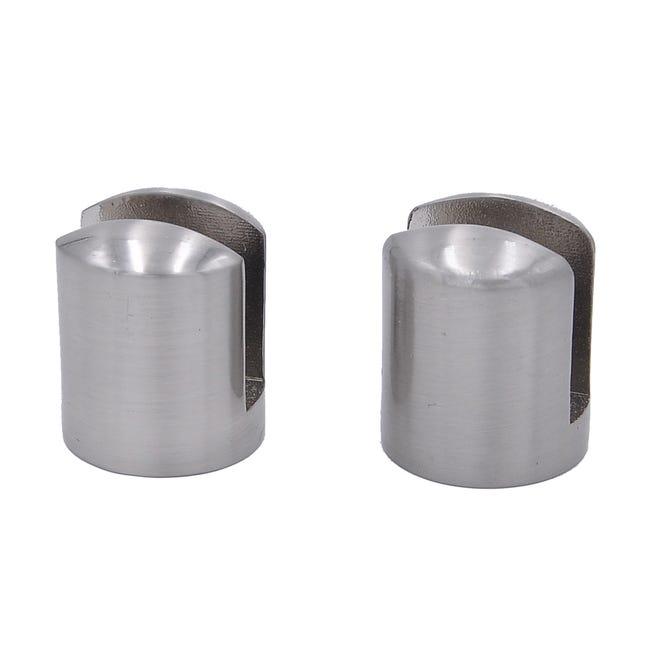 Kit De Fixation Anneau Metal Chrome Brosse Pour Tablette Modul Leroy Merlin