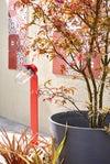 Carreau de ciment mur rouge mat l.20 x L.20 cm, Belle epoque léonie