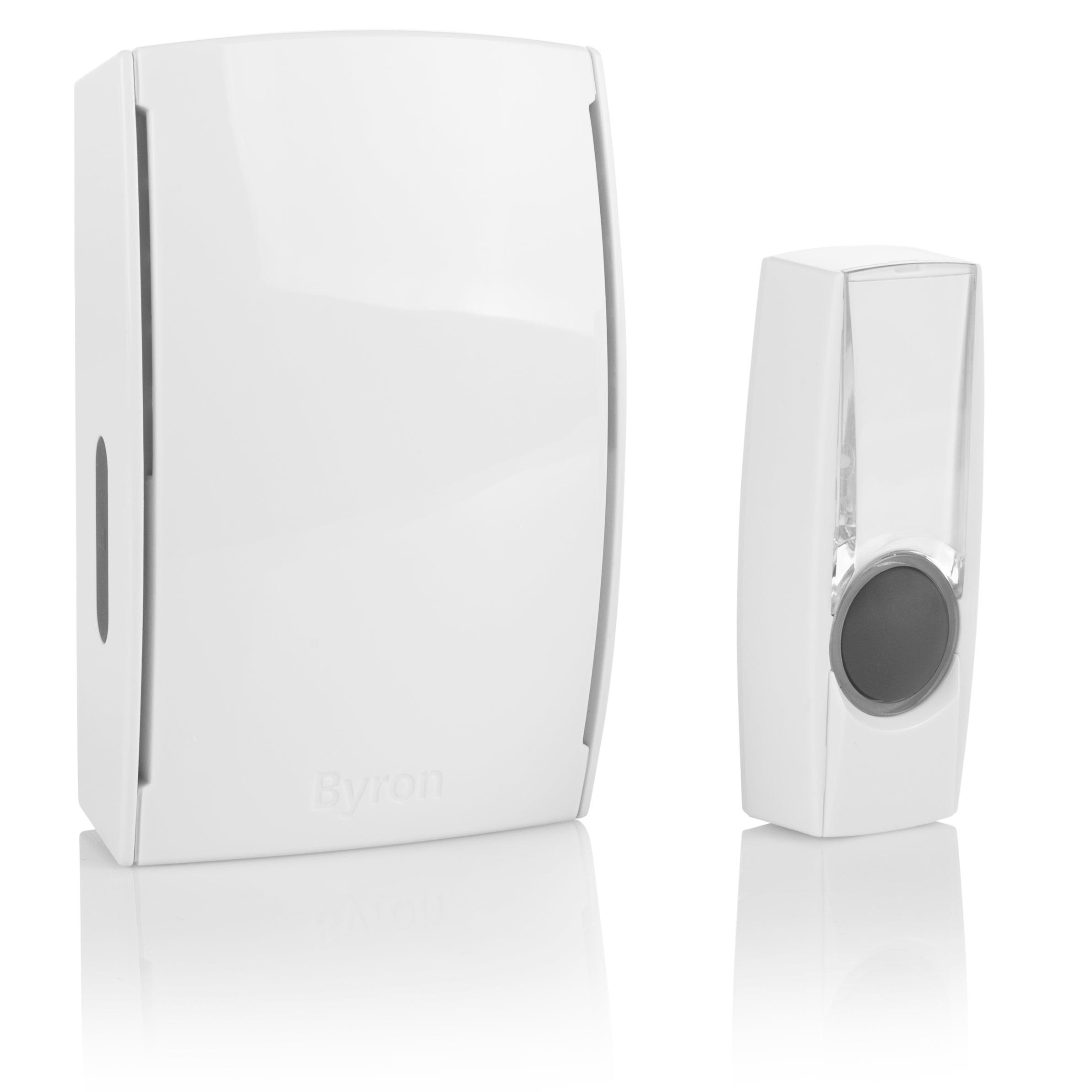 sans batterie Yimaler Sonnette de porte /électrique sans fil sans fil avec 2 r/écepteurs Blanc sans fil