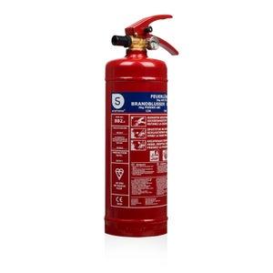Extincteur  à poudre sèche 2kg pour feux:  abc certifié bsi- bb2, SMARTWARES