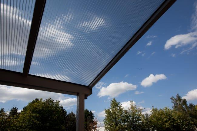 Plaque de toiture grande onde polycarbonate translucide l.0.92 x L.2 m | Leroy Merlin