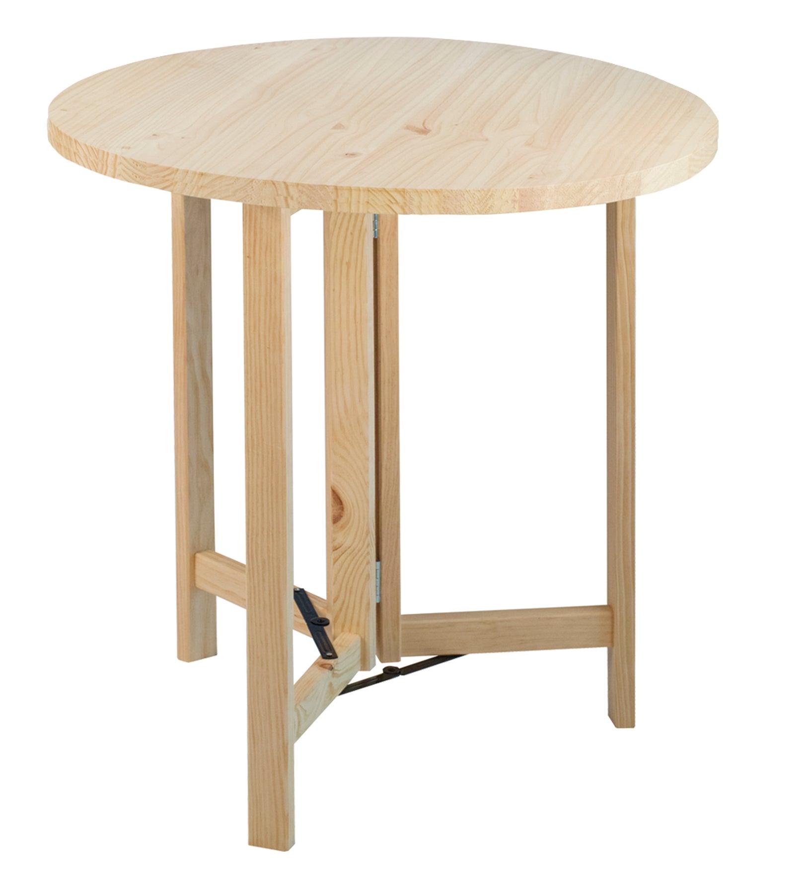 plateau de table pin massif l75 x l75 cm x ep35 mm