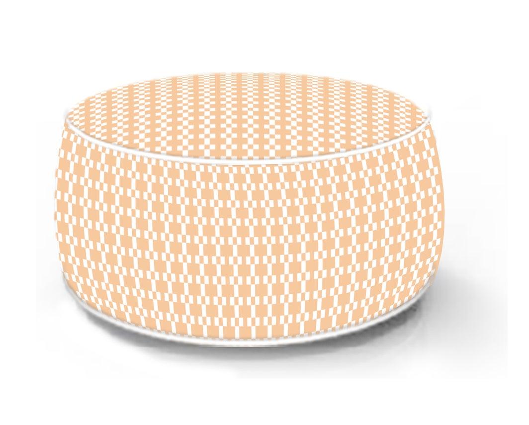 Pouf de sol gonflable orange, 53 x 53 cm