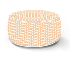 Pouf de sol gonflable orange, 53 x 53 cm