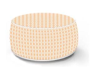 Image : Pouf de sol gonflable orange, 53 x 53 cm
